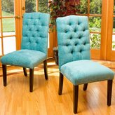 Christopher Knight Home Crown Top Fabric Dining Chair (Set of 2)