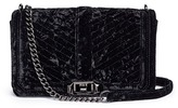 Rebecca Minkoff 'Love' chevron quilted crushed velvet crossbody bag