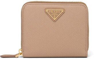 Prada Saffiano zipped wallet