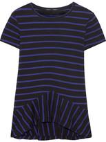 Proenza Schouler Striped Cotton-jersey Peplum Top - Royal blue