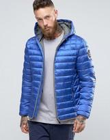 Napapijri Quilted Hooded Jacket Zip Front