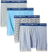 Beverly Hills Polo Club Men's 4 Pack Printed Boxer Brief
