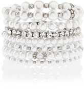 Accessorize Pearl And Crystal Stretch Bracelet Pack