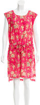 Suno Floral Knee-Length Dress