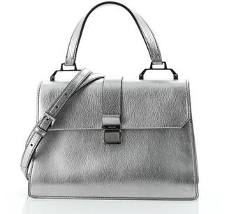 Miu Miu Madras Convertible Compartment Top Handle Bag Leather Medium