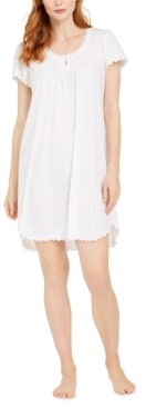 Miss Elaine Printed Soft Knit Nightgown
