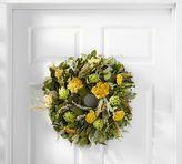 Pottery Barn Live Artichoke & Yarrow Wreath