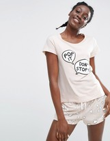 Monki Pop It Pajama Short Set