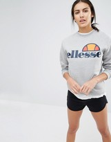 Ellesse Oversized Crew Neck Sweatshirt With Front Logo