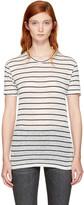 Etoile Isabel Marant Ecru and Black Striped Andreia T-shirt