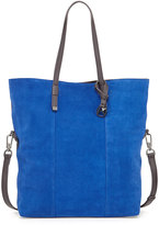 Halston Colorblock Suede Tote Bag, Cobalt Multi