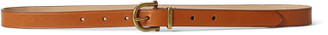 Ralph Lauren Leather Stirrup Skinny Belt