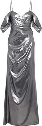 J. Mendel J.Mendel J.mendel Cold-shoulder Gathered Silk-lame Gown