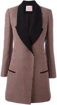 Lanvin houndstooth patterned coat