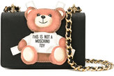 Moschino toy bear paper cut out crossbody bag - women - Calf Leather - One Size