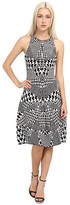 McQ by Alexander McQueen Houndstooth Jacquared Flirty Dress