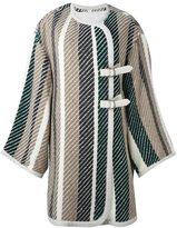 See by Chloe woven blanket coat