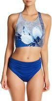 Carmen Marc Valvo Shirred Waist Bikini Bottom