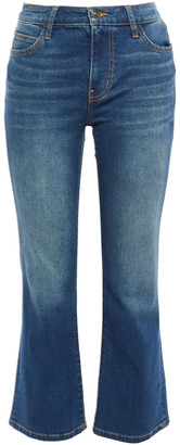 Current/Elliott The Lou Faded Mid-rise Kick-flare Jeans