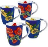 Konitz Flower Mugs in Blue (Set of 4)