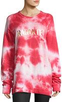 Rodarte Radarte Tie-Dye Sweatshirt, Red Pattern