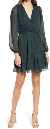 Ever New Shelley Pintuck Skater Dress