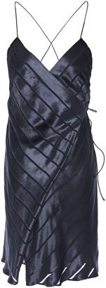 Mason by Michelle Mason Open-back Devore-velvet Mini Dress