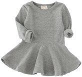 ZHUANNIAN Baby Toddler Girl Long Sleeve Solid Ruffle Princess Dress