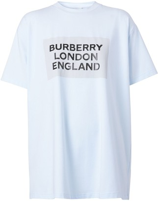 Burberry logo-print oversized T-shirt