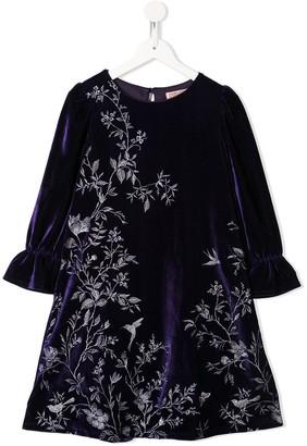 Marchesa Notte Mini Nina velvet dress