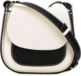 Giorgio Armani colour block flap shoulder bag