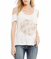Jessica Simpson Ezra Cold Shoulder Graphic Tee