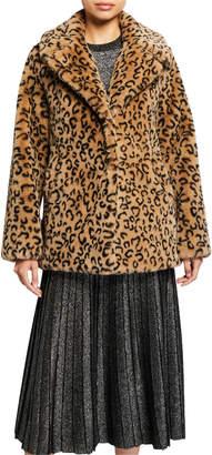 A.L.C. Stone Faux-Fur Coat