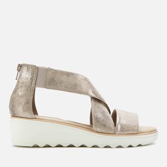 Clarks Women's Jillian Rise Wedged Sandals