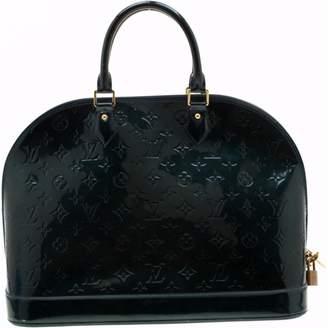 Louis Vuitton Alma Navy Patent leather Handbags