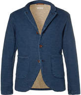 KAPITAL - Indigo Slim-Fit Loopback Cotton-Jersey Blazer