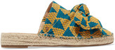Sam Edelman Lynda Bow-embellished Canvas Espadrilles - Teal