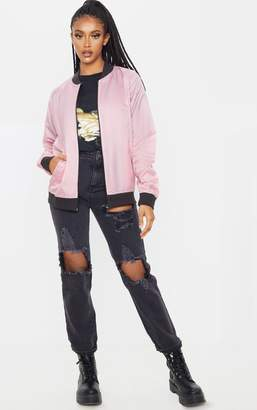 PrettyLittleThing Rose Lightweight Bomber Jacket