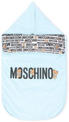 Moschino Kids logo print sleeping bag