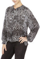 Parker Printed Chest Pocket Blouse
