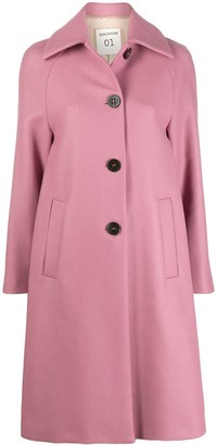 Semi-Couture Single-Breasted Wool Coat