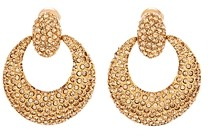 Oscar de la Renta Pave-Encrusted Clip-On Loop Earrings