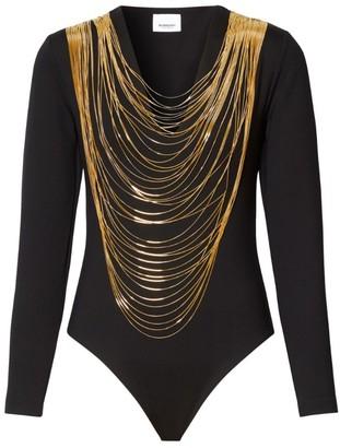 Burberry Chain Detail Bodysuit