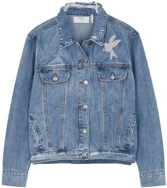 One Teaspoon La Femme crystal-embellished denim jacket