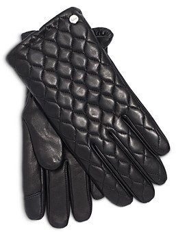 Echo Quilted Leather & Wool Tech Gloves
