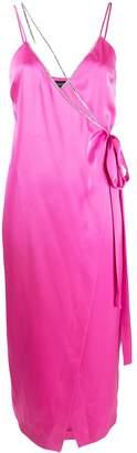 David Koma chain strap slit detail dress