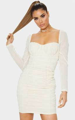 PrettyLittleThing Tall Black Ruched Mini Dress