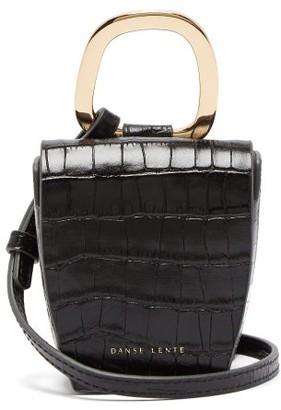 Danse Lente Pablo Crocodile-effect Leather Cross-body Bag - Black