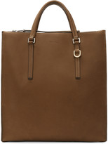 Rick Owens Brown Edith Vertical Shopper Tote