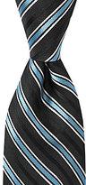 Roundtree & Yorke Racing Stripes Traditional Silk Tie